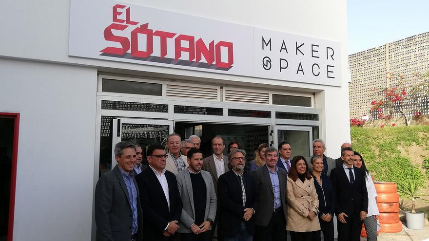 Acto de inauguración del espacio El Sótano, la nueva herramienta de Yrichen destinada a los jóvenes.