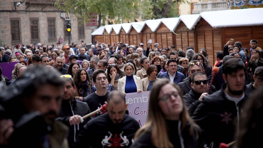 Marcha contra la violencia machista en Toledo por el 25N