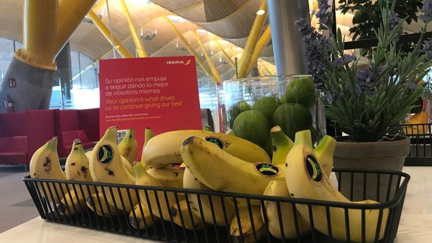 'Plátano de Canarias' se distribuirá en los vuelos internacionales de Iberia