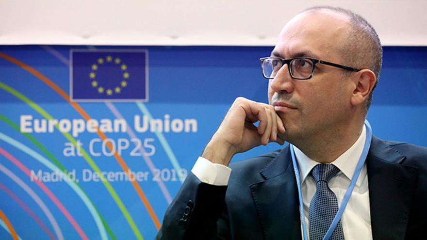 El consejero delegado de BBVA Onur Genç en la COP25, la Cumbre del Clima de Madrid