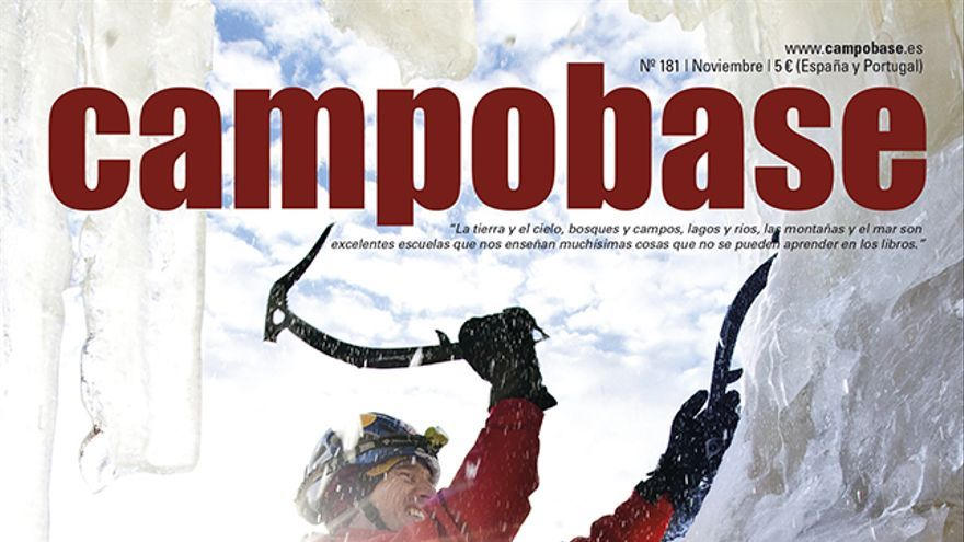 Will Gadd escalando en hielo en el Eidfjord en Noruega.