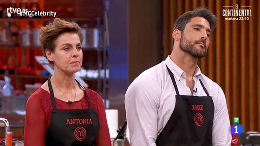 Inédita doble expulsión en Masterchef Celebrity: adiós a Jaime y a una Antonia Dell'Atte que arremete contra todos