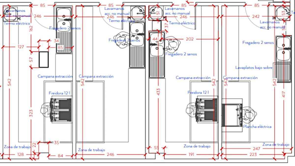 Plano de cuatro de las siete cocinas fantasmas que están listas para abrir en San Bernardino 20