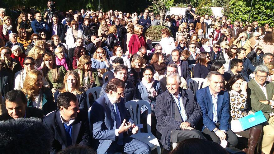 Mariano Rajoy en Tomares (Sevilla).