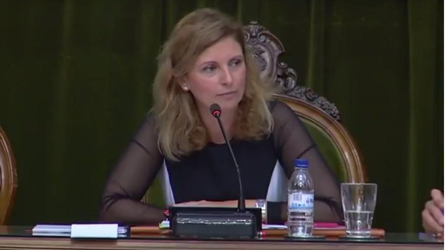 Amparo Marco, alcaldesa de Castellón, durante el Pleno.