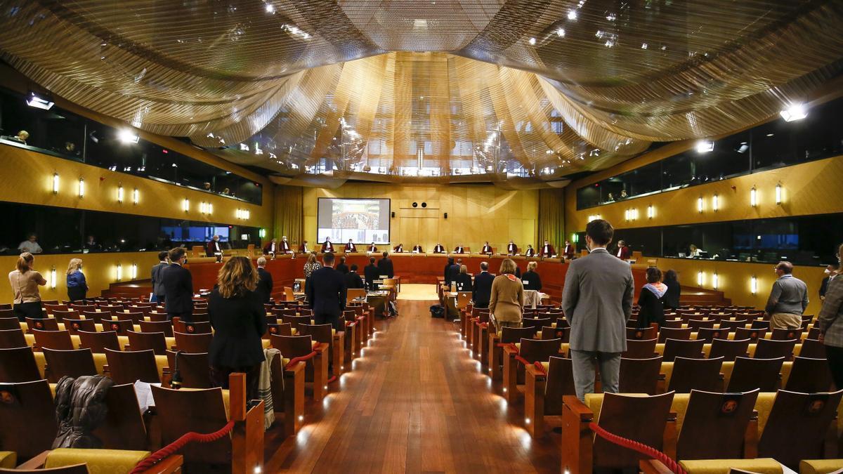Sala del Tribunal de Justicia de la UE en Luxemburgo.