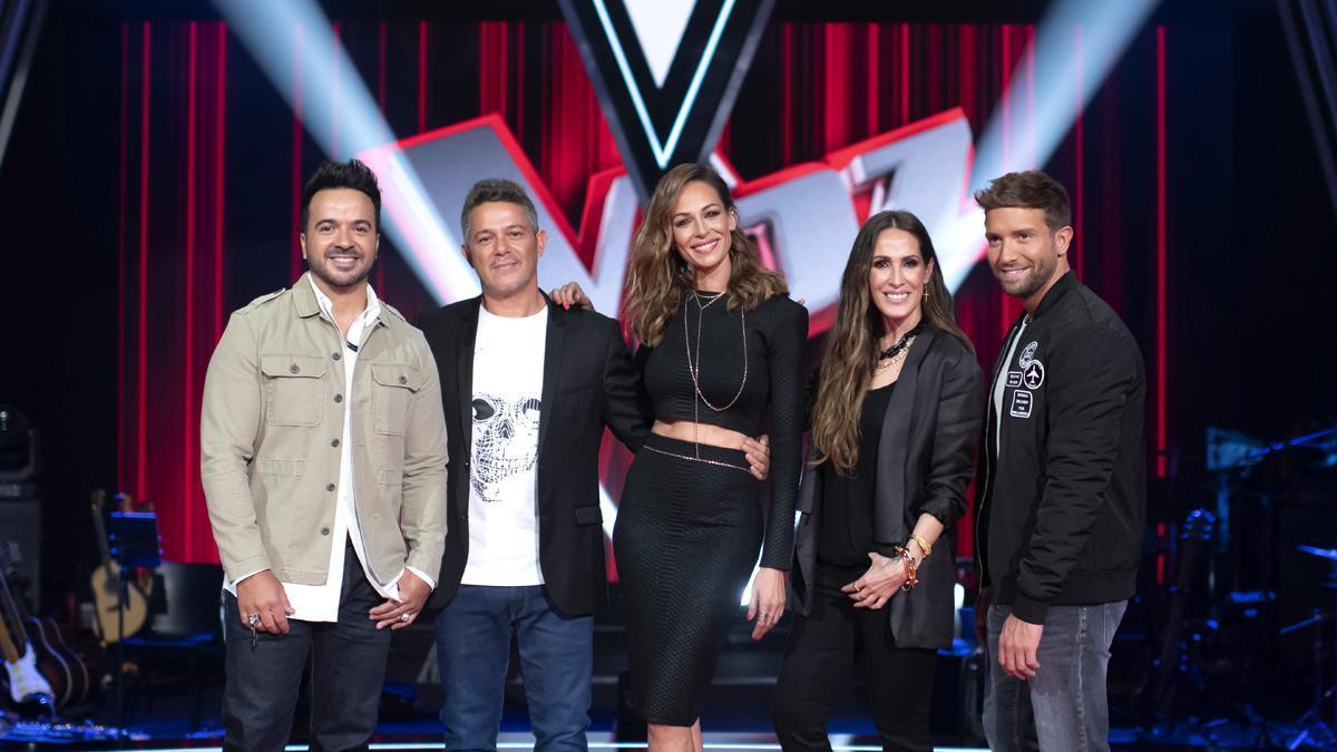 'La Voz' con Luis Fonsi, Alejandro Sanz, Eva González, Malú y Pablo Alborán