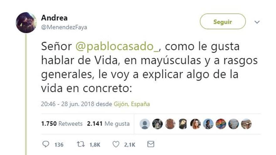 Captura del hilo de Twitter de @MenendezFaya