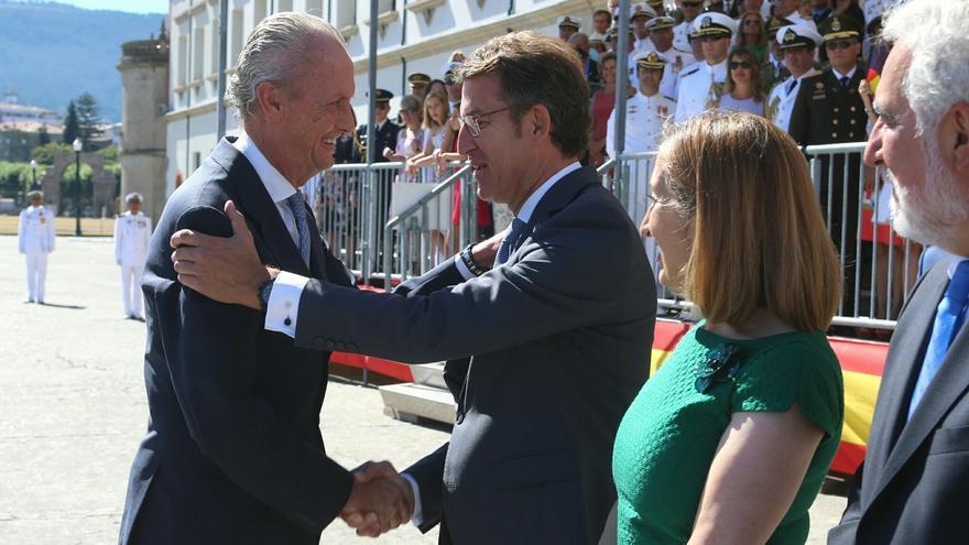 Feijóo en un acto en Galicia con el exministro de Defensa Pedro Morenés