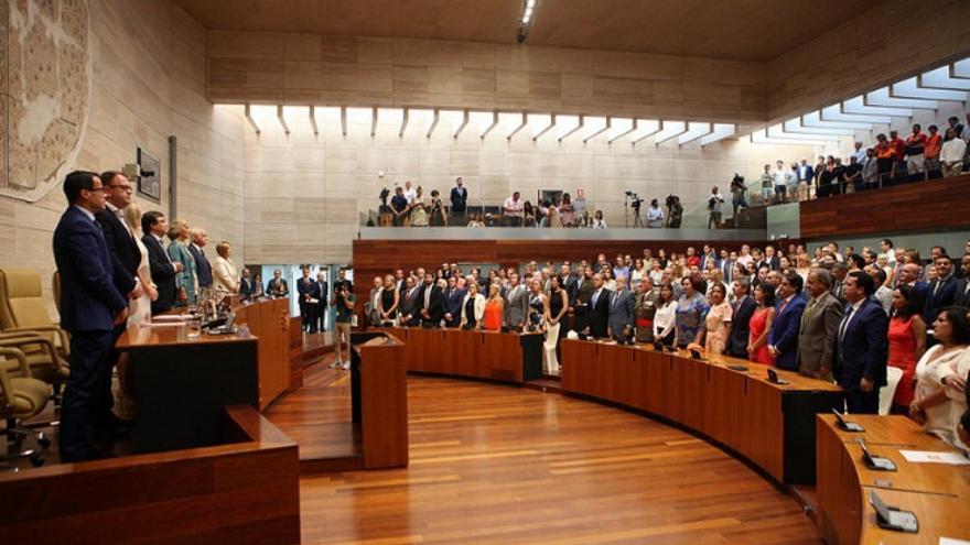 Autoridades en invitados, en el acto institucional por el Día de Extremadura / Asamblea de Extremadura