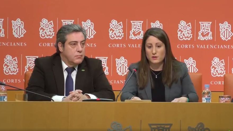 José María Llanos y Ana Vega, portavoces de Vox en las Corts Valencianes.