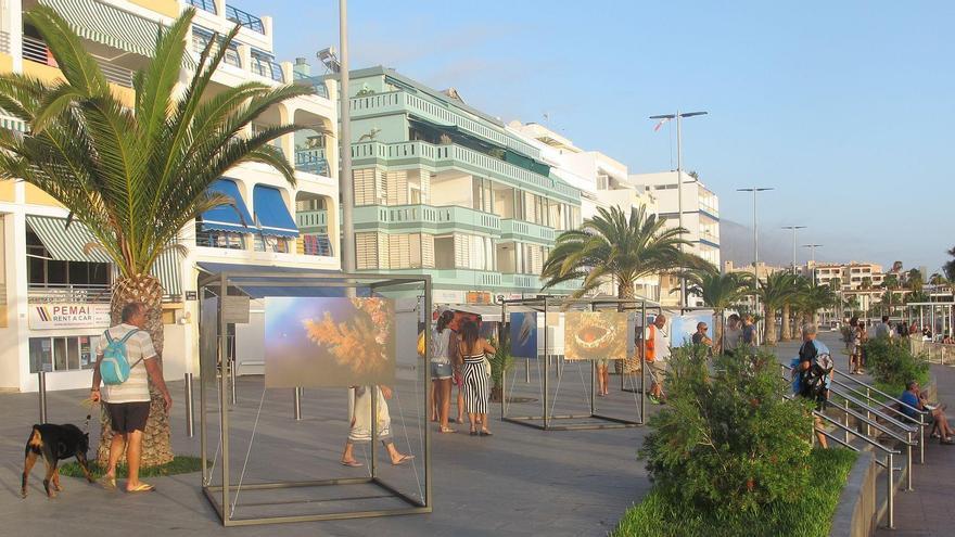 Exposición del Festival del Mar en la Avenida Marítima de Puerto Naos.