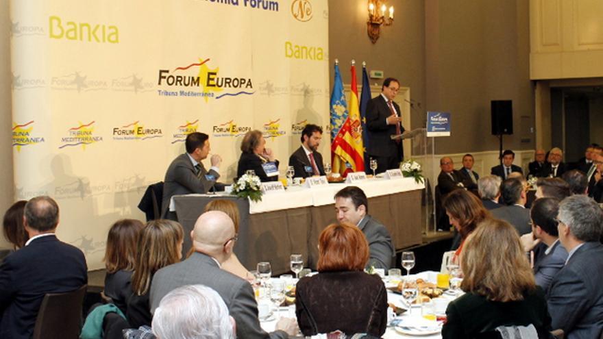 El conseller de Modelo Económico, Vicent Soler, durante su intervención en el Fórum Europa