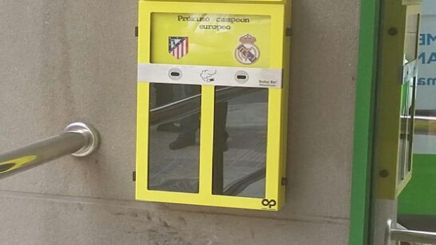 Urnas cenicero instaladas por el Ayuntamiento de Madrid