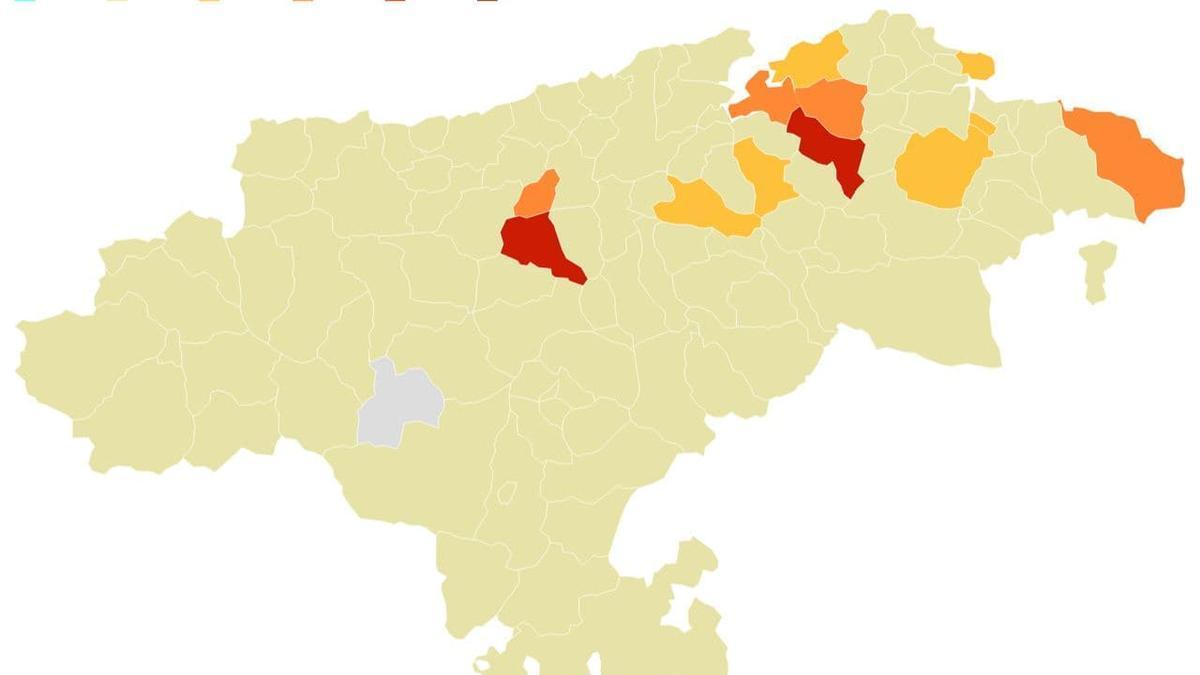 Semáforo COVID de Cantabria actualizado a 18 de mayo.