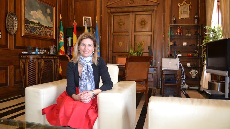 Amparo Marco, alcaldesa de Castellón, en su despacho del Ayuntamiento de Castellón.