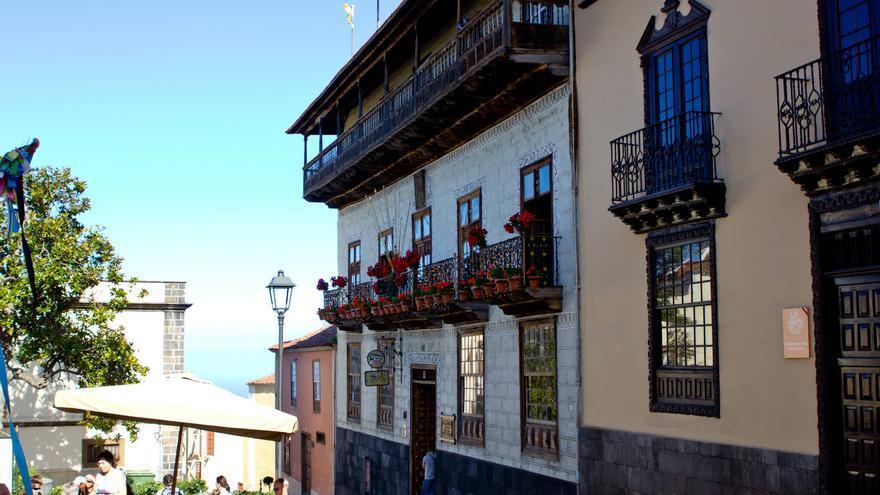 Fachada de la Casa de los Balcones, en Tenerife.