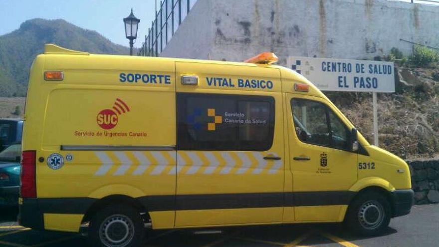 Ambulancia de soporte vital básico del SUC en El Paso.