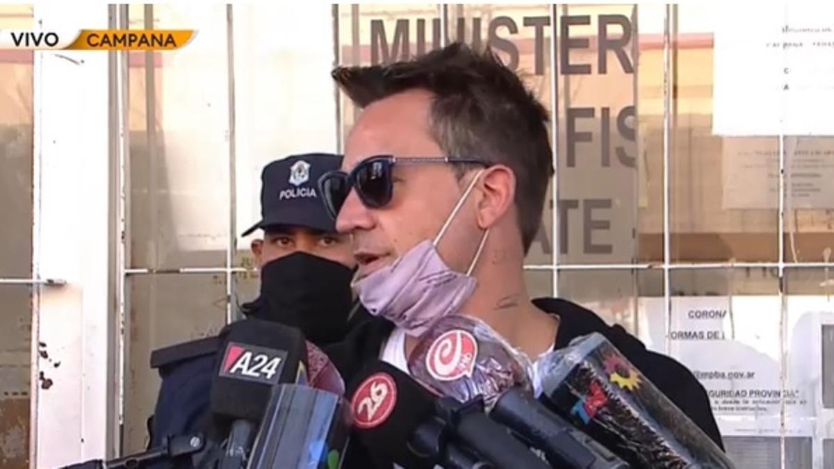 Chano Charpentier se encuentra internado en un centro terapéutico y habló con los medios tras un trámite judicial..