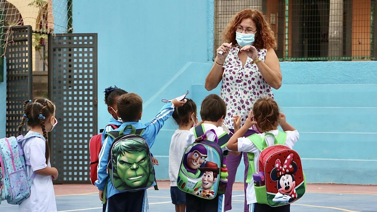Alumnos de un colegio en Gran Canaria