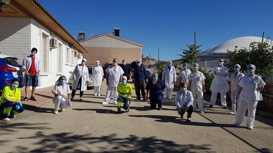VÍDEO | Centros de salud y consultorios médicos agradecen a la España vaciada su apoyo en la lucha contra la pandemia