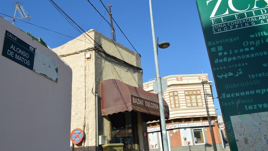 Calle Alonso de Matos en Ingenio, antes Calle José Antonio Primo de Rivera