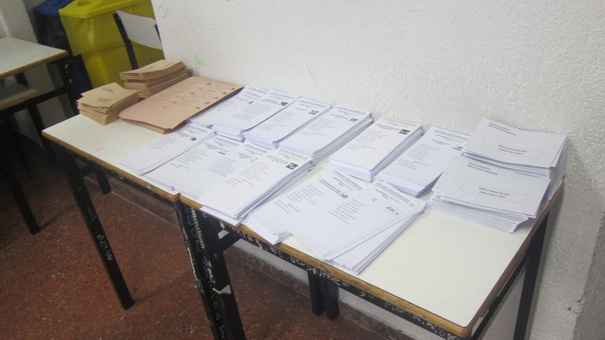La participación en Euskadi baja más de tres puntos, hasta el 36,05%, a las 14.00 horas