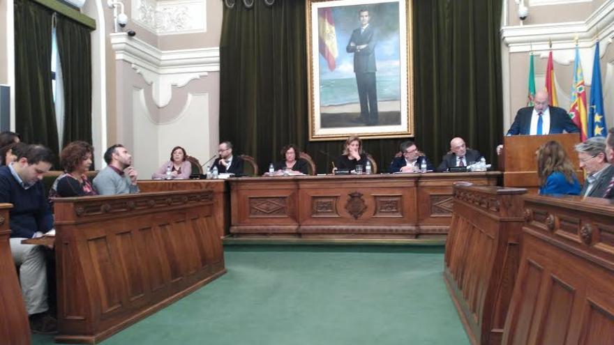 Imagen del Pleno del Ayuntamiento de Castellón.