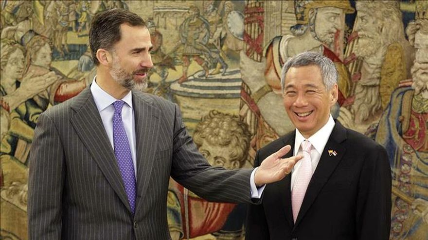 El Rey aborda con el primer ministro de Singapur las relaciones bilaterales