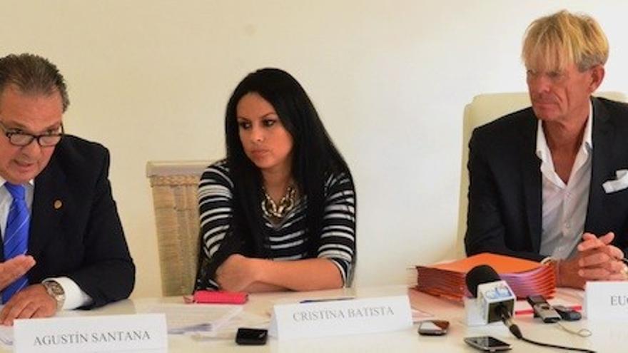 Agustín Santana, Cristina Batista y Eugen Kaiser. | Giorgio Felice RAPETTI