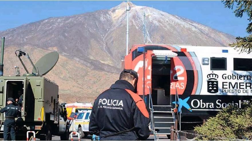 Dispositivo montado en enero de 2014 para la búsqueda de Víctor Teni