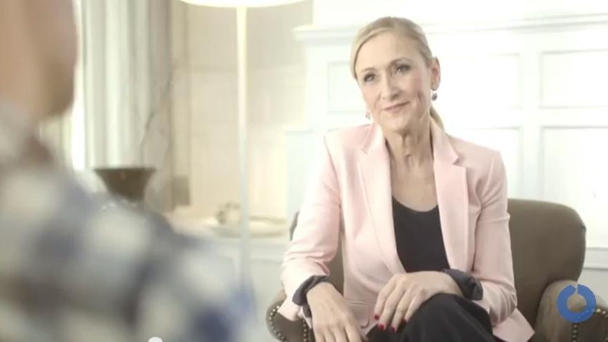 Captura del vídeo electoral de Cristina Cifuentes.