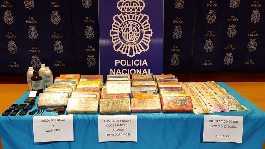 Desarticulada en Canarias una red de narcotráfico que introducía cocaína desde Sudamérica