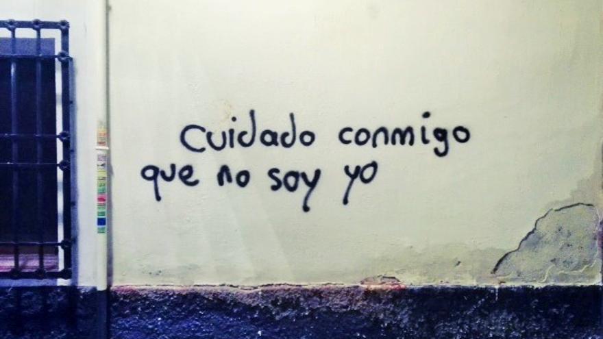 Pintada en una pared de Madrid, 2018