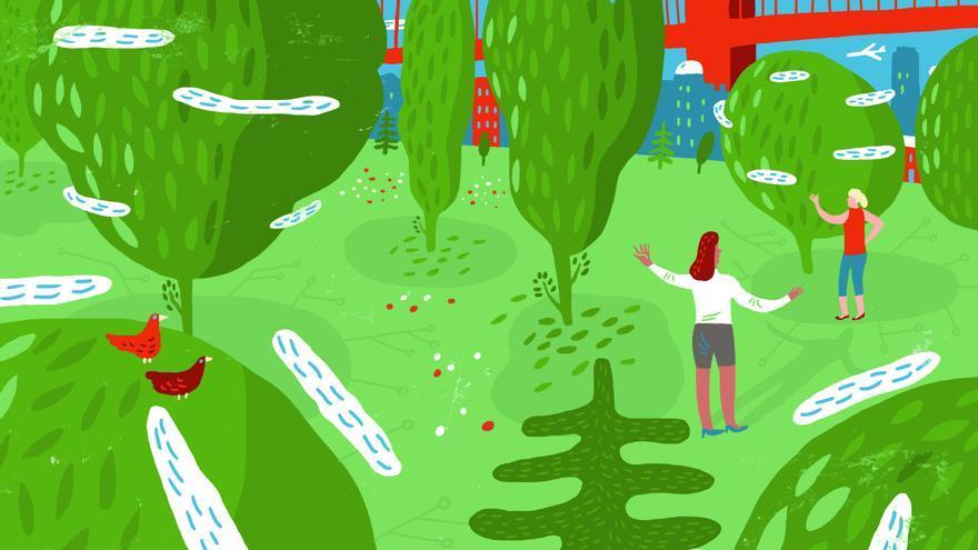 Las ciudades son más verdes gracias a los árboles mágicos que imagina Brenda Cooper