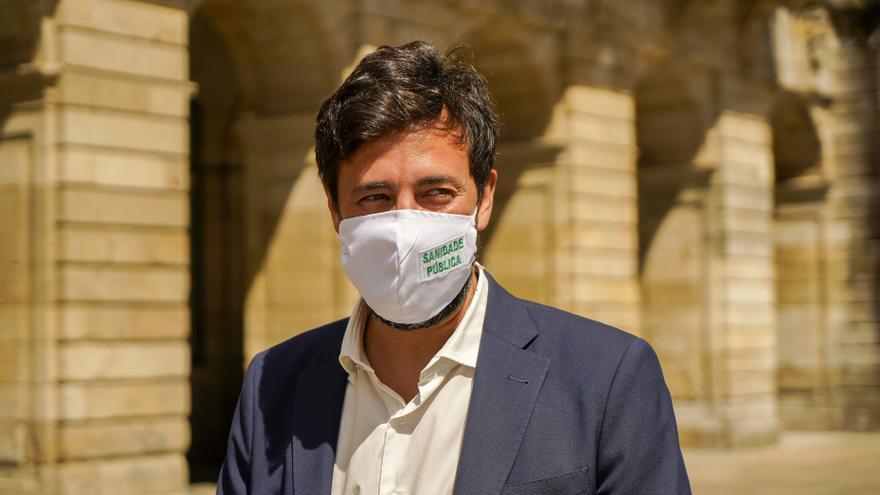 El candidato de Galicia en Común a la Presidencia de la Xunta, Antón Gómez-Reino