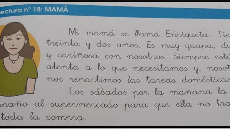 Descripción de la madre en el libro 'Mis Lecturas Favoritas 2.2'