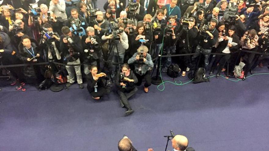 Laurent Fabius y Ban ki Moon en la COP21 / COP21