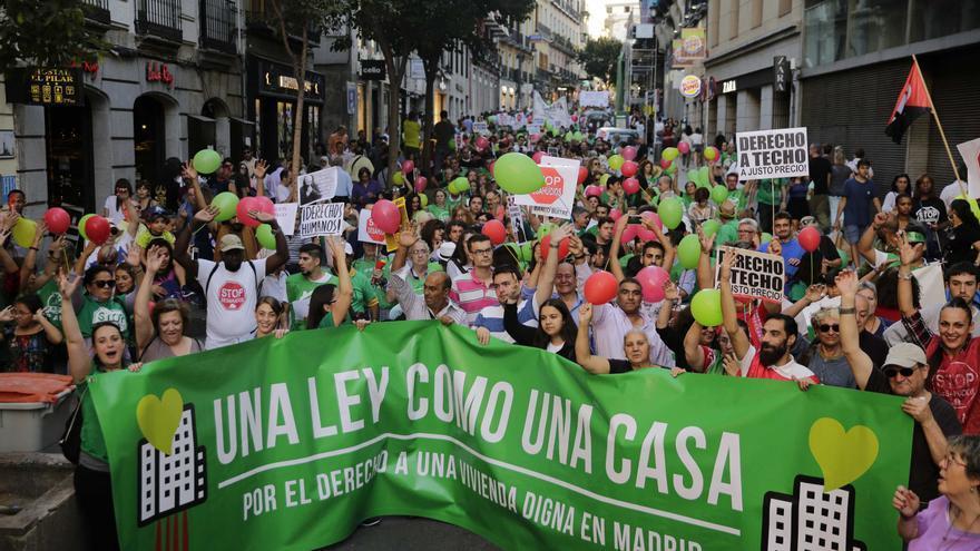 Manifestación por la vivienda digna de 2017 en Madrid.