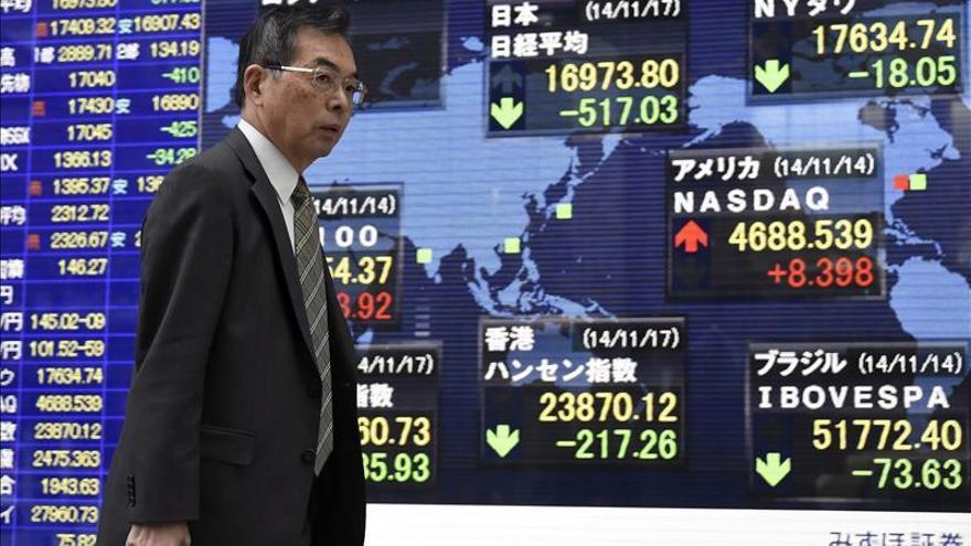 El Nikkei baja un 0,33 por ciento hasta los 17.920,41 puntos