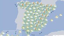 Mañana probables chubascos y tormentas en el Cantábrico, Navarra y Pirineos