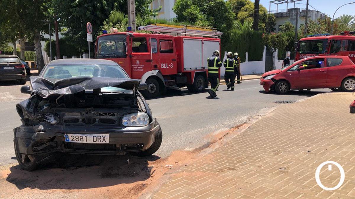 Accidente en la avenida El Brillante.