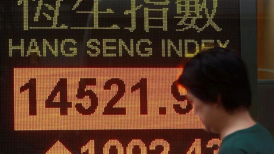 La Bolsa de Hong Kong cae un 1,12 % a media sesión