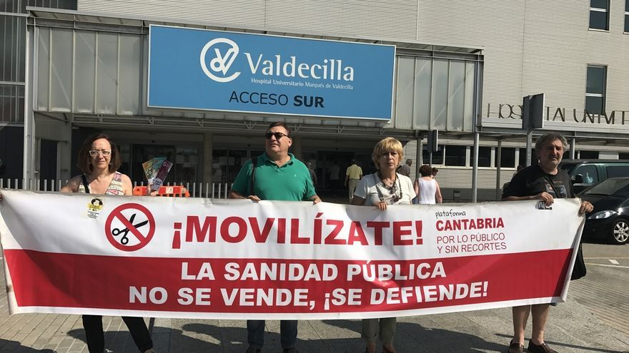 """Cantabria por lo Público denuncia """"precarización laboral"""" en Valdecilla"""