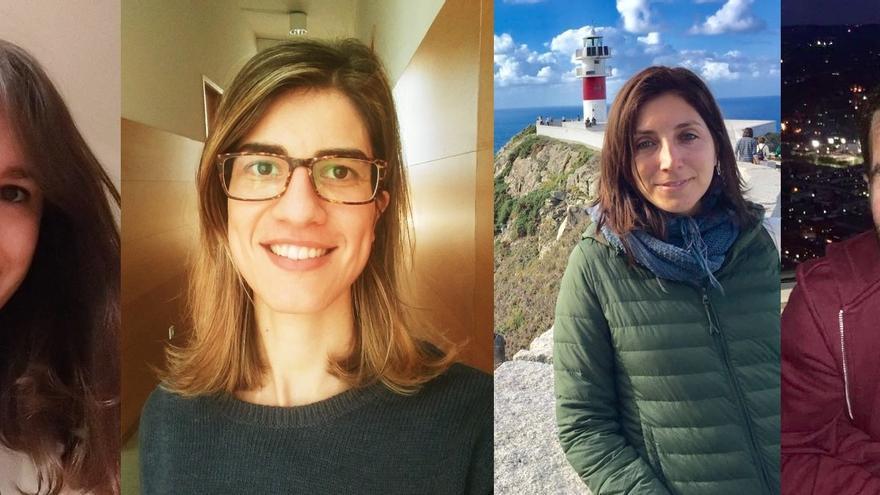Susana Cid, Marga Marín, Inés Viana e Javier Dubert, catro das investigadoras e investigadores prexudicados