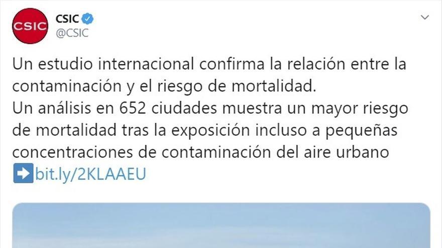"""El CSIC recuerda a Díaz Ayuso que existe relación """"entre la contaminación y el riesgo de mortalidad"""""""