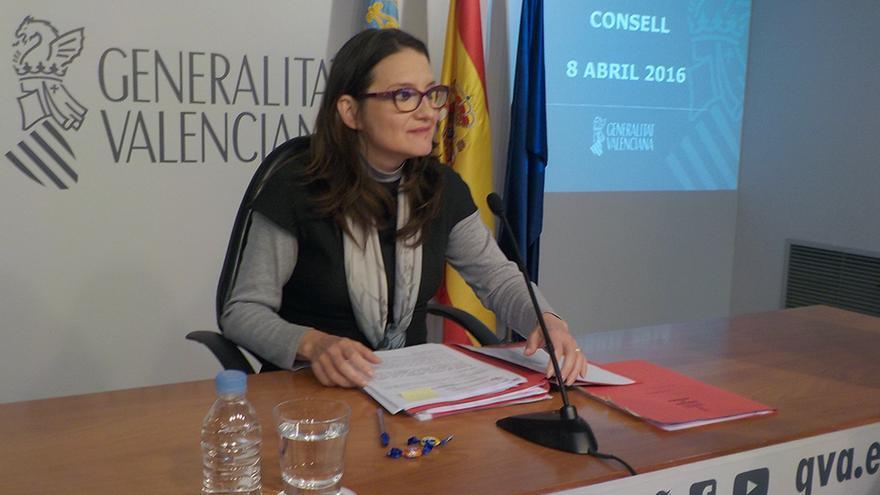 La vicepresidenta Mónica Oltra en rueda de prensa