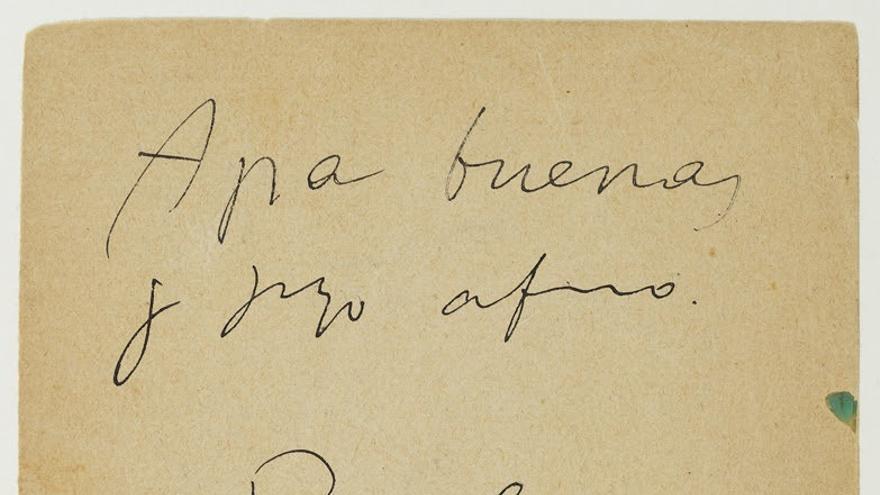 Museo Picasso incorpora carta de Picasso a Miquel Utrillo desde París de 1901