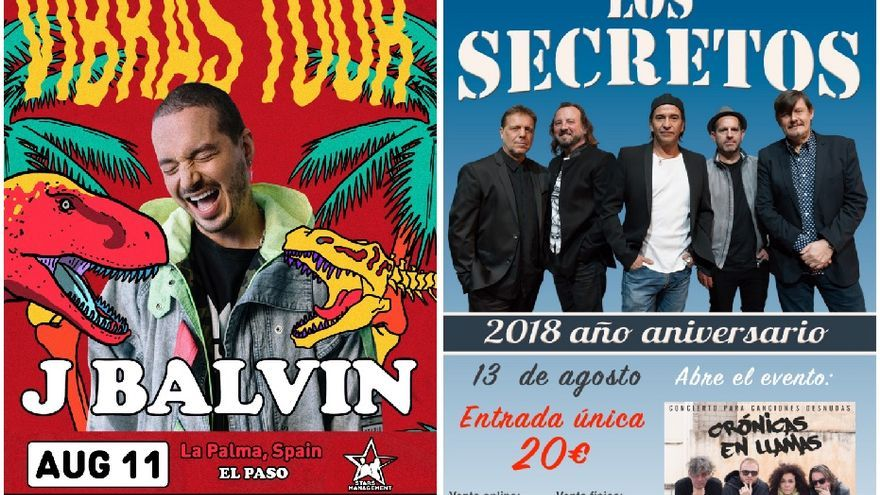 Cartel de los conciertos.