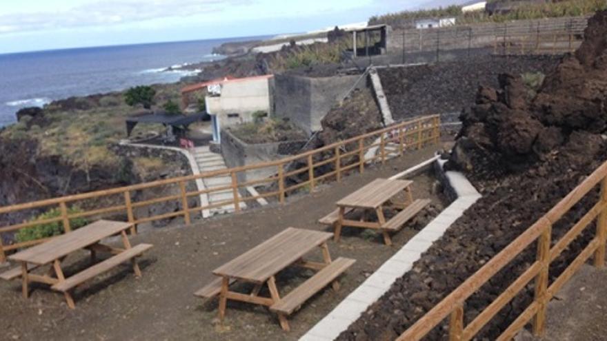 Imagen de archivo de la primera zona recreativa de litoral de La Palma, en Puntalarga.
